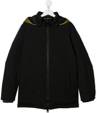 Herno TEEN zipped parka coat