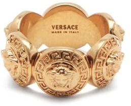 Versace Medusa-debossed Gold-tone Ring - Gold