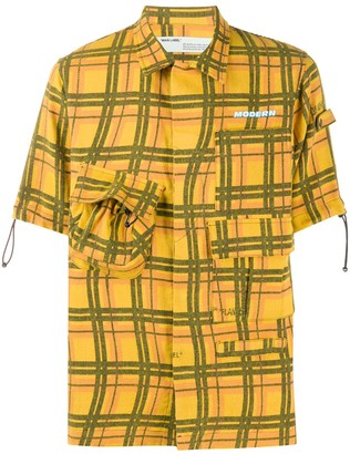 Off-White Voyager checked short-sleeved shirt