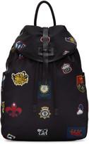 Alexander McQueen Black Nylon Badges Backpack