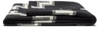 Pendleton Kiva Steps Wool-blend Blanket - Black Print