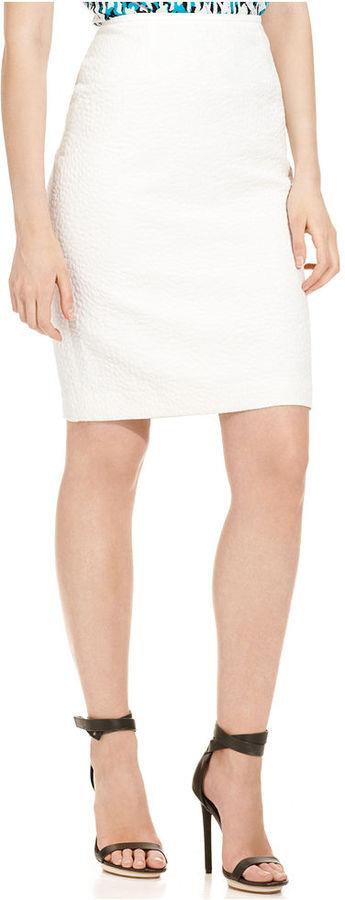 Calvin Klein Skirt, Pebble-Textured Straight