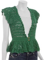palm cotton crochet cardigan