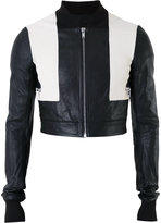 Rick Owens cropped bomber jacket - men - Cotton/Goat Skin - 46