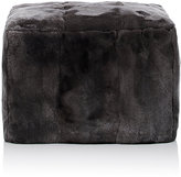 ADRI Collection Fur Cubed Ottoman-GREY