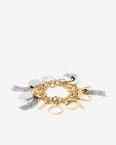 White House Black Market Mixed Metal Charm Toggle Bracelet
