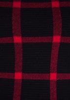 Torn By Ronny Kobo Natalie Casual Plaid Peplum Top in Black/Red