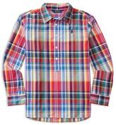 Ralph Lauren Girls' Popover Plaid Shirt - Sizes 7-16