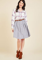 ModCloth Living the Dream Skirt in Grey in L