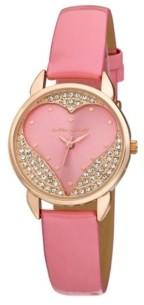 Laura Ashley Designer Pink Hearts Watch