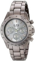 A Line a_line Women's 20050-GR Amore Chronograph Grey Aluminum Watch