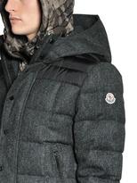 Moncler Guyenne Herringbone Wool Down Jacket