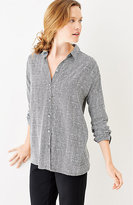 J. Jill Painted-Gingham Easy Shirt