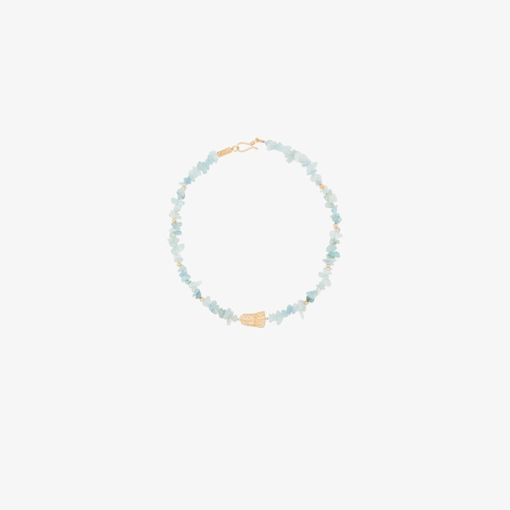 Apples & Figs gold-plated Song of the Waves aquamarine necklace