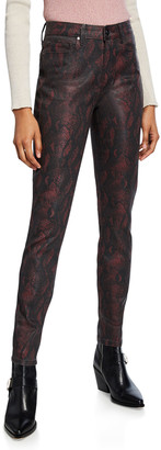 Paige Hoxton Ultra Skinny Coated Jeans