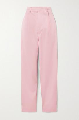 MUNTHE Elsie Satin Straight-leg Pants - Pastel pink