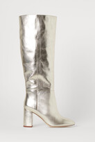 H&M Shimmering Leather Boots