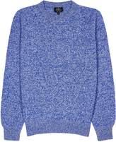 A.P.C. Marcus blue wool jumper
