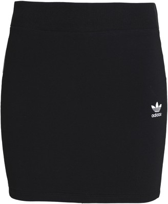 adidas Striped Cotton-blend Mini Skirt