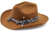 Maison Michel Lucky rabbit-fur felt cowboy hat