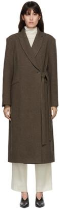 LE 17 SEPTEMBRE LE17SEPTEMBRE Brown Side Belted Long Coat