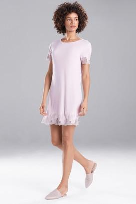 Natori Luxe Shangri-La Short Sleeve Sleepshirt