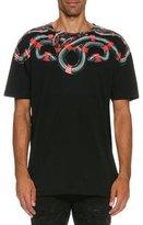 Marcelo Burlon County of Milan Ruben Snake-Print T-Shirt, Black