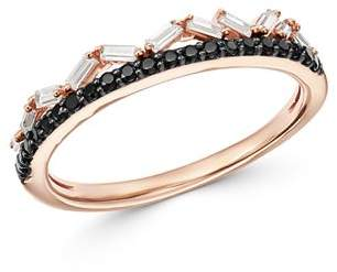 Bloomingdale's Black & White Diamond Double-Row Band in 14K Rose Gold - 100% Exclusive