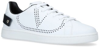 Valentino Leather Backnet Sneakers