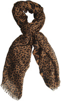 Arden B Two-Sided Leopard Scarf