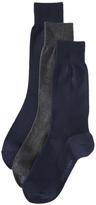 Calvin Klein Underwear 3 Pack Combed Flat Knit Crew Socks