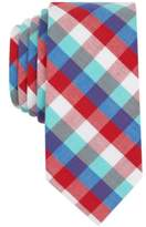 Bar III Men's Heywood Check Skinny Tie, Created for Macy's