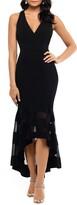 Xscape Evenings High/Low Flounce Midi Dress