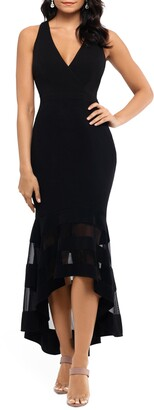 Xscape Evenings High/Low Flounce Midi Dress