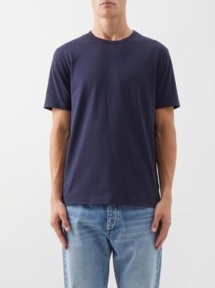 Sunspel Pima-cotton Jersey T-shirt - Navy