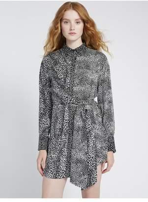 Alice + Olivia Jodi Collared Tie Waist Mini Dress