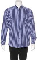 Zegna Sport Striped Woven Shirt