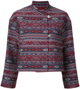 H Beauty&Youth zig-zag print cropped jacket - women - Cotton - S