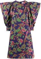 Givenchy floral print fitted dress
