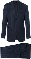 Canali classic Drop 6 pinstripe suit - men - Cupro/Wool - 48