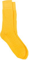 Corgi MEN'S RIBBED COTTON-BLEND MID-CALF SOCKS