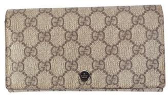 Gucci Brown GG Canvas Wallet