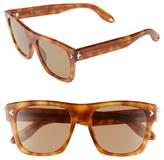Givenchy Women's 55Mm Square Sunglasses - Light Havana