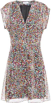 Equipment Danette Floral-print Silk-georgette Mini Dress