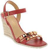 Franco Sarto As Is Leather Espadrille Wedges w/ Stud Detail - Nayla