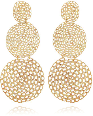 Gas Bijoux Onde Gourmette Hammered Chain Drop Earrings