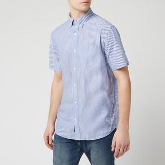 Gant Men's TP Sunsucker Stripe Red BD Short Sleeve Shirt