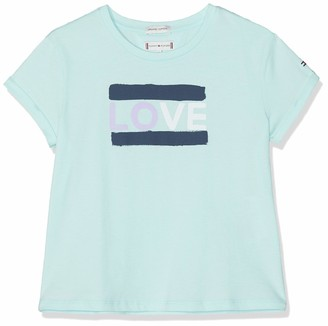 Tommy Hilfiger Girl's Painted Love Tee S/s T-Shirt