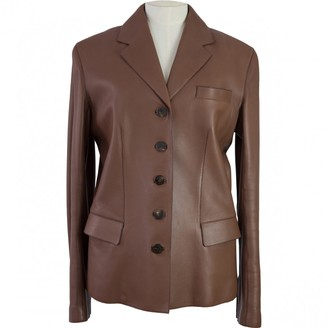 Hermes Brown Leather Jackets
