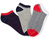Copper Key 3-Pack Chevron Multi-Print No-Show Socks